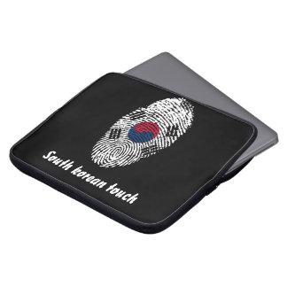 Funda Para Portátil Bandera surcoreana de la huella dactilar del tacto