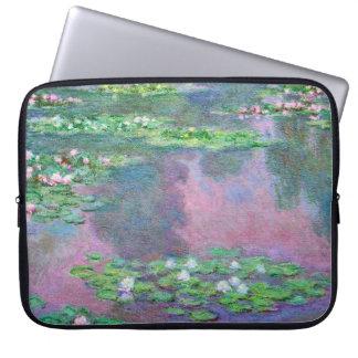 Funda Para Portátil Bella arte de Claude Monet de los lirios de agua