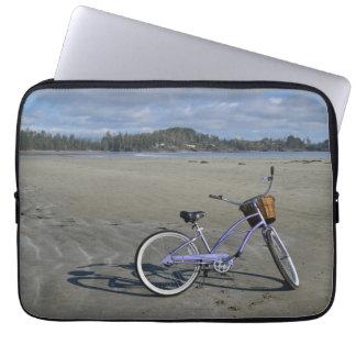 Funda Para Portátil Bicicleta en la playa
