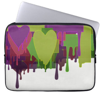 Funda Para Portátil Bloques del color que derriten corazones