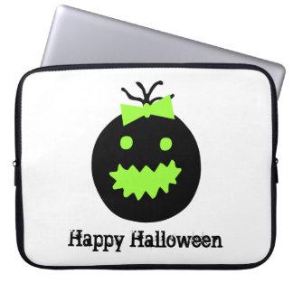 Funda Para Portátil Calabaza linda de Halloween con el arco
