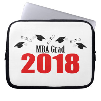 Funda Para Portátil Casquillos y diplomas 2018 (rojo) del graduado de