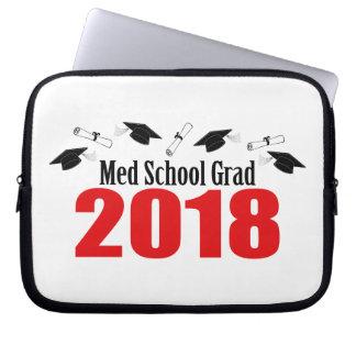 Funda Para Portátil Casquillos y diplomas del graduado 2018 de la