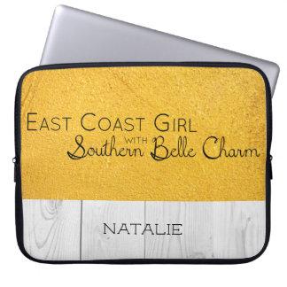 Funda Para Portátil Chica de la costa este con encanto meridional de