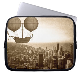 Funda Para Portátil Dirigible sobre Chicago