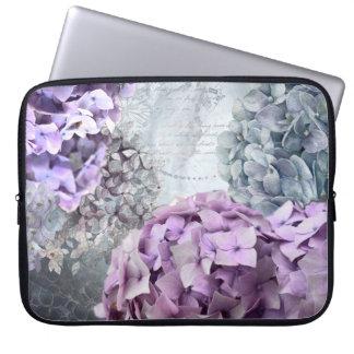 Funda Para Portátil Estampado de plores floral del Hydrangea del