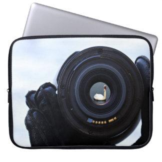 Funda Para Portátil Fotógrafo y cisne