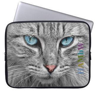 Funda Para Portátil Gato gris de HAMbWG - mangas del ordenador