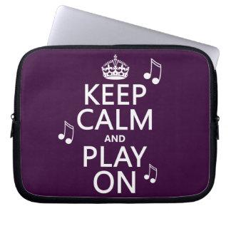 Funda Para Portátil Guarde la calma y el juego encendido - las notas