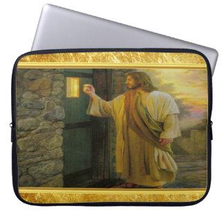 Funda Para Portátil Jesús en su puerta con un diseño del efecto