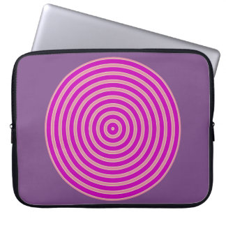 Funda Para Portátil línea amarilla clara púrpura manga del ordenador