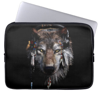 Funda Para Portátil Lobo indio - lobo gris