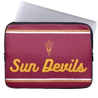 Funda Para Portátil Logotipo de la escritura del vintage de ASU el |