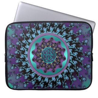 Funda Para Portátil Mandala céltica en bolso colorido del ordenador
