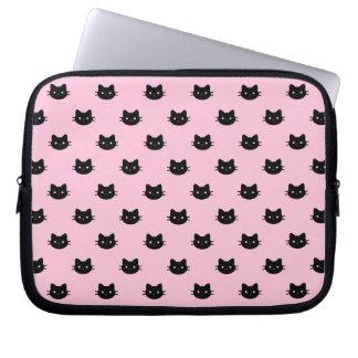 Funda Para Portátil Manga del ordenador portátil del gato negro