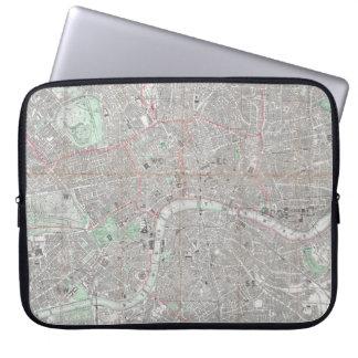 Funda Para Portátil Mapa del vintage de la ciudad de Londres