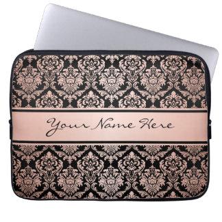 Funda Para Portátil Modelo color de rosa del damasco de la pendiente