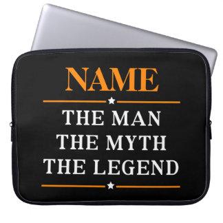 Funda Para Portátil Nombre personalizado el hombre el mito la leyenda