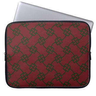 Funda Para Portátil Nudos cuadrados elegantes en rojo