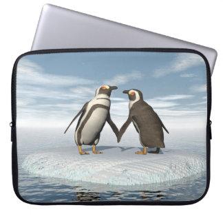 Funda Para Portátil Pares de los pingüinos