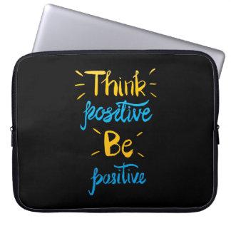 Funda Para Portátil Piense que el positivo sea manga positiva del