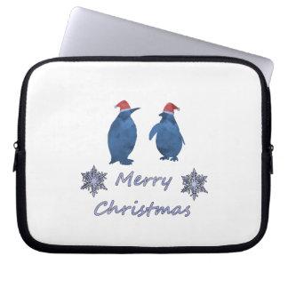 Funda Para Portátil Pingüinos del navidad