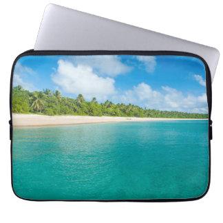 Funda Para Portátil Playa alineada palmera, Tonga