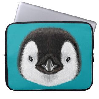 Funda Para Portátil Retrato ilustrado del polluelo del pingüino de
