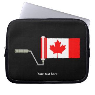 Funda Para Portátil Rodillo de pintura canadiense de la bandera