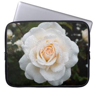 Funda Para Portátil Rosa blanco con la manga del ordenador portátil de