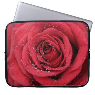 Funda Para Portátil Rosa rojo con las gotitas