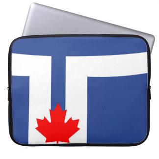 Funda Para Portátil Símbolo de Canadá de la bandera de la ciudad de