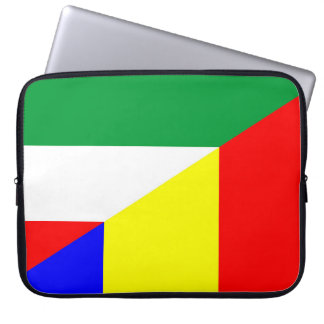 Funda Para Portátil símbolo del país de la bandera de Rumania Hungría