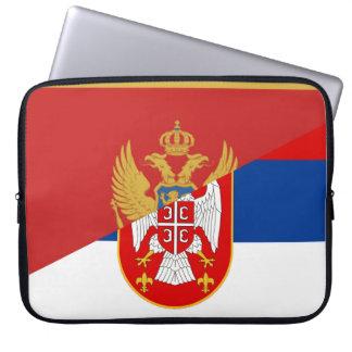 Funda Para Portátil símbolo del país de la bandera de Serbia