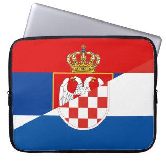 Funda Para Portátil símbolo del país de la bandera de Serbia Croacia