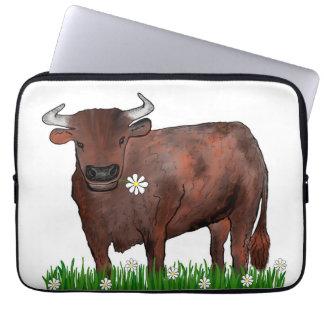 Funda Para Portátil Tauro bonito Bull y caja del ordenador portátil