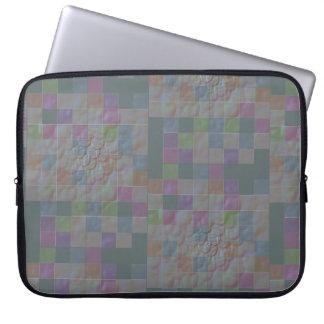 Funda Para Portátil tejas de mosaico tridimensionales en jade