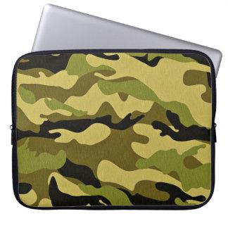 Funda Para Portátil Textura verde del ejército del camuflaje