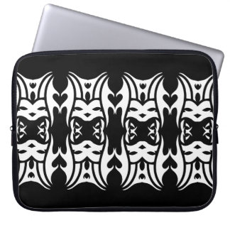 Funda Para Portátil Tribal laptop sleeve 6 white over black