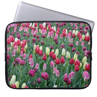 Funda Para Portátil Tulipanes coloridos de la primavera