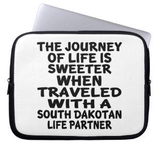 Funda Para Portátil Viajado con un socio dakotense del sur de la vida
