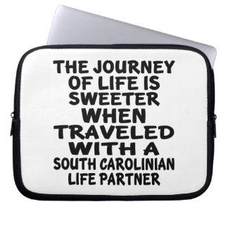 Funda Para Portátil Viajado con un socio de la vida del Carolinian del