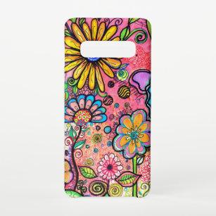 Funda Para Samsung Galaxy S10 Arte de flores psicodélicas