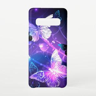 Funda Para Samsung Galaxy S10 Fondo con mariposas nocturnas