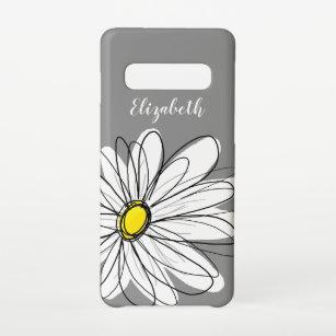 Funda Para Samsung Galaxy S10 Ilustracion floral moderno Daisy - amarillo gris