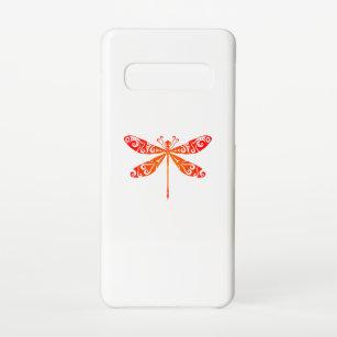 Funda Para Samsung Galaxy S10 La libélula maorí, un tatuaje tribal polinesio,