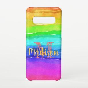 Funda Para Samsung Galaxy S10 Nombre inicial del juego de colores del color del