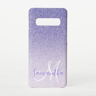 Funda Para Samsung Galaxy S10 Purpurina púrpura moderno engaña nombre personal