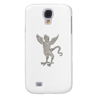 Funda Para Samsung Galaxy S4 Dibujo con alas antiguo del monstruo