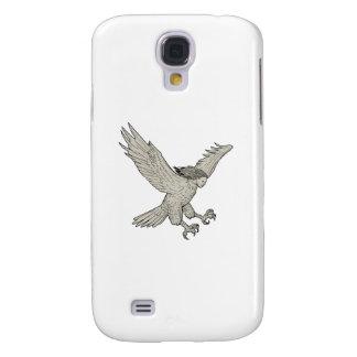 Funda Para Samsung Galaxy S4 Dibujo Swooping del Harpy